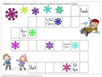 Speech Therapy Winter Reinforcement Games