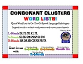 Speech Word Lists--More Consonant Clusters Than You Ever Thought You'd Need!