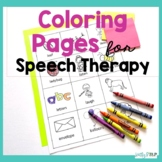 Speech Therapy Articulation Worksheets Distance Learning