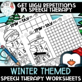 No Prep Winter Themed Articulation Worksheet Activity 100 Trials