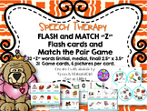 Speech Therapy /Z/ Articulation Flash Cards & Matching Game Initial Medial Final