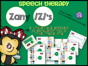 Speech Therapy /Z/ Articulation Graphic Organizers Visual Initial Medial Final