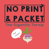 GIGANTIC Turnip *PRINT & GO* Pre-literacy Speech Therapy Companion: Worksheets