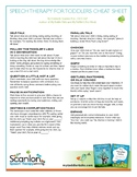 Speech Therapy for Toddlers Cheat Sheet