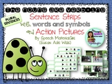 Speech Therapy nouns are verbing grammar w/ action pictures & sentence strips