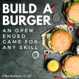 Speech Therapy or Classroom Game for Any Skill | Build A Burger