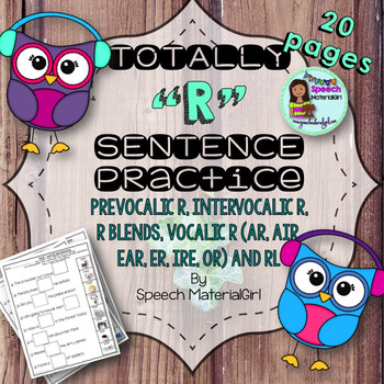Speech Therapy word/sentence prevocalic r intervocalic blends vocalic rl