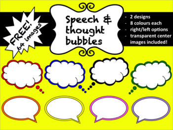 Speech & Thought Bubbles Clipart (64 images for commercial use)