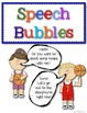 Speech & Thought Bubbles writing lessons for beginning writers