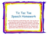 Speech Tic Tac Toe Homework