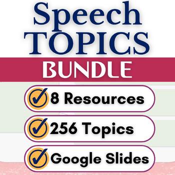 Speaking Topics Bundle, Middle School and High School, Goo