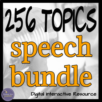 Speaking Topics Bundle, Middle School and High School, Google Drive and OneDrive