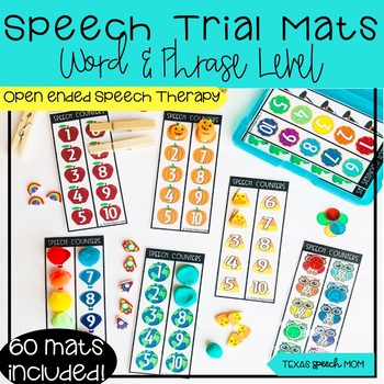 Speech Trial Mats- Articulation Word and Phrase Level Drills- fine motor
