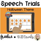 Speech Trials - Halloween Theme for Boom Cards™ *FREEBIE*