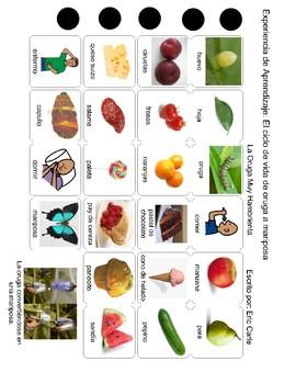 Speech Tx Spanish Vocabulary: Very Hungry Caterpillar/La Oruga muy Hambrienta