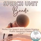 Speech Unit Bundled Plans & Activities: Public Speaking, P