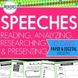 Speech Unit - Reading, Analyzing, Researching, Presenting (Google Classroom)
