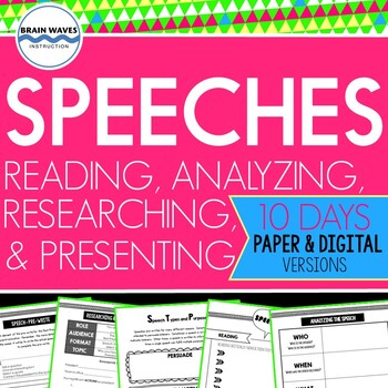 Speech Unit - Reading, Analyzing, Researching, Presenting