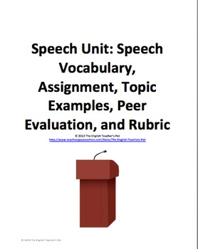 Speech Unit: Vocabulary, Assignments and Evaluations