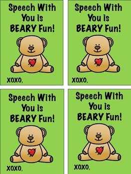 Speech Valentine Fun Freebie