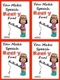 Speech Valentine Fun Freebie