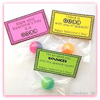 Speech Valentine Labels {bouncy balls}