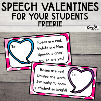 Speech Valentines {FREEBIE}
