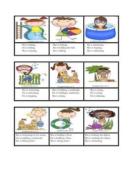 Speech, Verb form -ing, Subject Pronouns, Language Arts, PK/ K Recept/Exp