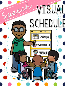 FREEBIE Speech Visual Schedule - Pocket Chart Edition
