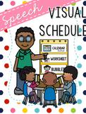 FREEBIE Speech Visual Schedule - Pocket Chart Edition