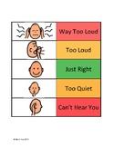 Speech Volume Chart FREEBIE