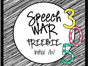 Speech War Freebie: Initial /b/