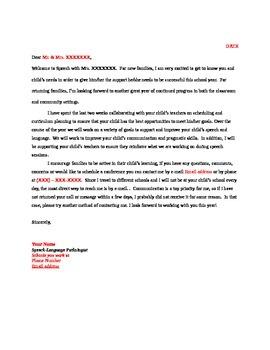 Speech Welcome Letter