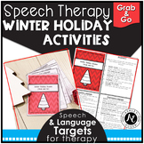 Speech Therapy Activities Winter Holiday Grab and Go