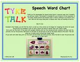 Speech Word Chart With /b/ Sound Starter Set