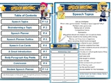 Speech Writing Files - Speeches PDF - Planners, Topics, Cue Cards