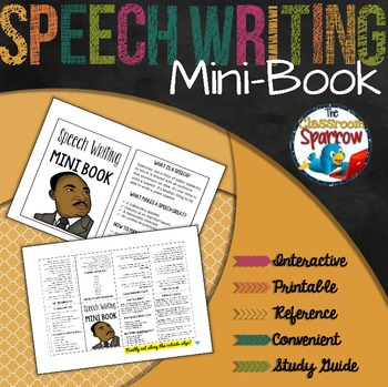 Speech Writing Mini-Book (A Perfect Addition to an ELA Interactive Notebook)