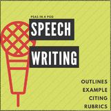 Speech Writing, Public Speaking Outlines & Rubrics