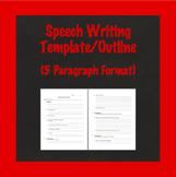 Speech Writing Template, Speech Outline, Biography Speech, 5 Paragraph Format