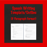 Speech Writing Template, Speech Outline, Biography Speech,