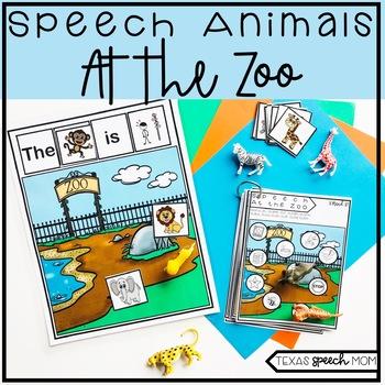 Speech and Language Therapy Zoo Animals: No Prep Unit