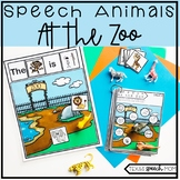 Speech and Language Therapy Zoo Animals: No Prep Unit