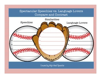 "Speech and Language Baseball Themed ""Ready To Go Pack"""