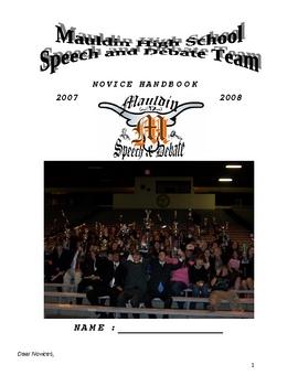 Speech and Debate / Public Speaking / Forensics Guide