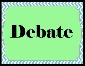 Speech and Debate Word Wall- Mary
