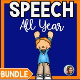 Speech Therapy All Year Bundle | Themed Speech and Language Worksheets