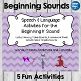 Articulation and Language Activities for the Beginning K Sound