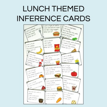 Lunchroom themed Language Activities