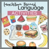 Lunchroom themed Language Activities