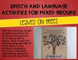 Speech and Language Activities for Mixed Groups: Leaves on Trees